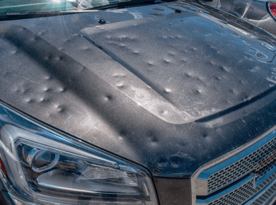 hail damaged cars